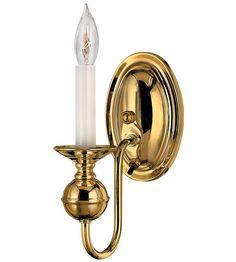Hinkley Lighting Virginian 1 Light Sconce in Polished Brass 5120PB #hinkley #hinkleylighting #lightingnewyork #outdoorlighting #lighting