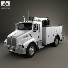 Kenworth T300 Heavy Service Truck 2006 3d model from humster3d.com. Price: $75