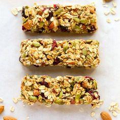 No-bake, Healthy Fruit & Nut Granola Bars Recipe   EverydayEasyEats.com