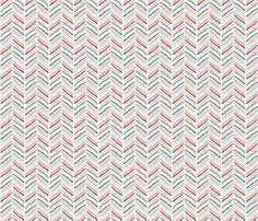 Own fabric - Hearts and chevrons by trinetollefsen on Spoonflower