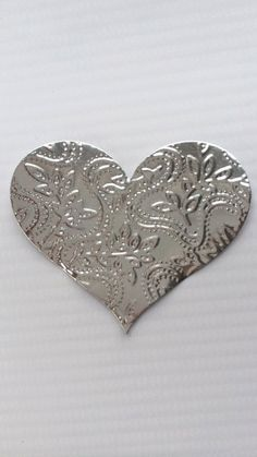Foil patterned hearts by 365BECAUSE on Etsy, $2.00