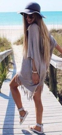 #summer #beach #outfits | Lilac Cover Up