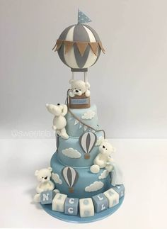 Baby Cakes, Baby Birthday Cakes, 1st Boy Birthday, Babyshower Cake Boy, Amazing Baby Shower Cakes, Baby Shower Cakes For Boys, Baby Shower Themes, Shower Ideas, Idee Baby Shower