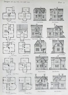 Small footprint historic floor plans.