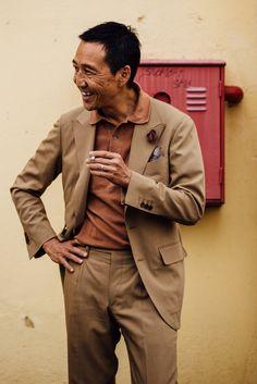 "jkfman: "" The elegant Yasuto Kamoshita on Day 1 of Pitti Uomo 90 """