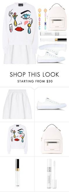 """""""White"""" by wolfiexo ❤ liked on Polyvore featuring malo, Converse, Boutique Moschino, Love Moschino, Moschino, Chanel and Christian Dior"""