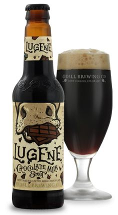 Lugene Chocolate Milk Stout – 100 Best Beers of 2014 NEW IN BREW: Odell's Lugene Chocolate Milk Stout ,I'm not a great lover of flavoured beers but I'd give anything a chance to change my mind. Beer Brewing, Home Brewing, Whisky, Beer Art, Beer Brands, Beer Packaging, Best Beer, Best Dark Beer, Beer Label