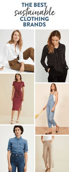 Dress to impress with this list of the best sustainable clothing brands so you can look great while leaving a positive impact on the environment. Sustainable Clothing Brands, Ethical Clothing, Ethical Fashion, Clothing Items, Sustainable Fashion, Fashion Brands, Sustainable Living, The Healthy Maven, Fashion Project