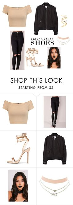 """Set#297 #embellishedshoes"" by anneclo2 on Polyvore featuring mode, Alice + Olivia, MANGO, Charlotte Russe, Madewell et embellishedshoes"