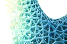 Detail of Alvin Huang's 3D printed Durotaxis Chair. Maybe something for 3D Printer Chat?