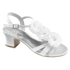 Little white sandals with flowers. So cute.
