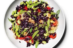 Find the recipe for Black Rice Salad with Lemon Vinaigrette and other walnut recipes at Epicurious.com