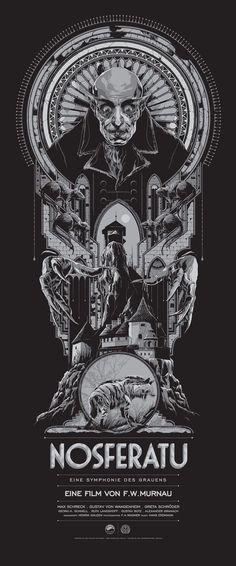 Los impresionantes posters para el mundo del espectáculo de Ken Taylor. #ilustraciones #postermovie Nosferatu