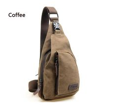 Unisex Fashion Men and Women Messenger Bags Cross Body Shoulder Chest Bags Packs Water Shape Canvas 4 Colors Lovers' Favorite