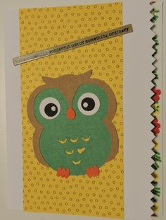 Silhouette Cameo Owl Card