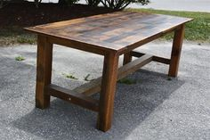 Rustic Reclaimed Barn Wood Harvest Table