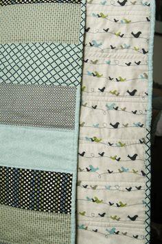 Modern Baby Boy Quilt by knitsandbitsforbaby on Etsy