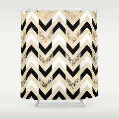 Black  White   Gold Glitter Herringbone Chevron on Nude Cream Shower CurtainFabric Shower Curtain  White and Black Paw Prints   Cream shower  . Black And Cream Shower Curtain. Home Design Ideas