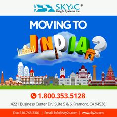 Moving to India? Need help on relocation? Contact Sky2C Freight System for door to door hasle free moving service. #movingtoindia #relocation