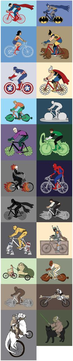 SUPER HERO ON Bicycles :)