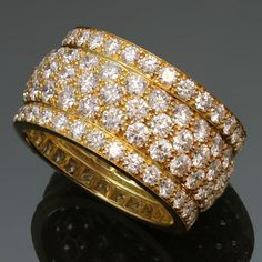 CARTIER Nigeria Yellow Gold 5-Row Diamond Band Ring