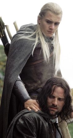 Orlando Bloom and Aragorn
