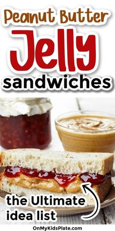 If you love the classic PB and J, you'll love these creative and easy peanut butter and jelly ideas. Delicious and easy ideas perfect for lunch and snacks. #peanutbutter #pbj #lunchideas #sandwiches