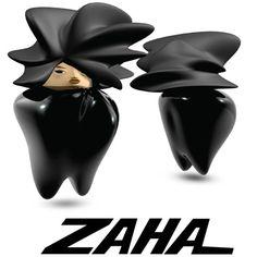 Zaha Hadid Dolls by Olivia Lee