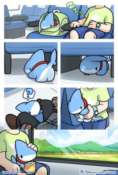 Adorable Shark Puppy Comics Is The Best Thing You See Today Cute Animal Drawings, Kawaii Drawings, Cute Drawings, Pet Shark, Baby Shark, Cute Comics, Funny Comics, Lusamine Pokemon, Baby Animals