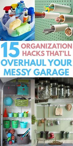 EASY DIY GARAGE ORGANIZATION IDEAS on a budget to increase storage, even in small and tight garages. From versatile pegboards to creative shelves and organizing bin systems for your workshop tools, ki