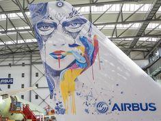 Airbus desenvolve revolucionário sistema de pintura de aeronaves