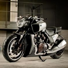 Insane custom Yamaha V-Max motorcycle