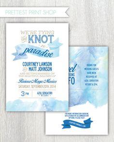 Printable wedding invitation  Destination by PrettiestPrintShop, $35.00
