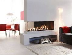 three sided fireplace ile ilgili görsel sonucu