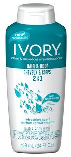 My Work-At-Home World: Ivory 2-IN-1 Hair & Body Wash Review! Thanks, Influenster!