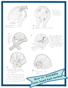 how to assemble a knit turban