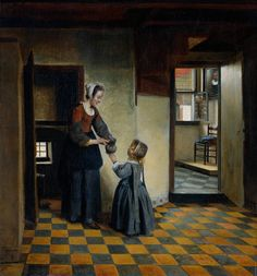 Pieter de Hooch (Dutch, 1629-1683). Woman and a Child in a Pantry, 1658. Rijksmuseum, Amsterdam