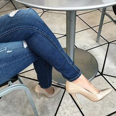 Do visit regularly as we often have new heels. Nude High Heels, Hot High Heels, Blue Heels, Sexy Heels, High Heel Pumps, Pumps Heels, Stiletto Heels, Jeans With Heels, Jeans And Boots