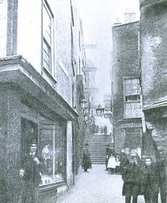 Christmas Steps, Bristol, UK around 1890 Bristol England, England Uk, Vintage Pictures, Old Pictures, Vintage Images, Great Buildings And Structures, Modern Buildings, Bristol Fashion, Local History