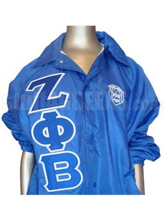 Zeta Phi Beta Royal Blue Crossing/Line Jacket with Letters and Crest  Item Id: PRE-ZFBBASIC-ROYAL  Retail Price: $79.00  You Save: $19.00  Price: $79.00  Your Price:  $60.00