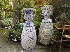 My Mosaic Ladies by gillm_mosaics, via Flickr