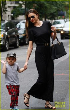 Miranda Kerr heads out and about on the Upper East Side of New York with her son Flynn on October 6, 2013