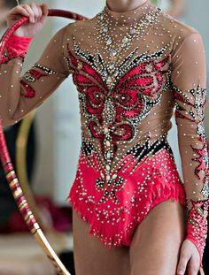 Rhythmic gymnastics leotard close-up More