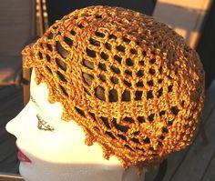 Crochet Lace Chemo Cap /Handmade Lace Cap / Hand Crochet Pineapple Beanie by NefertariCrafts, $25.00