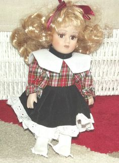 Vintage Miniature Porcelain Doll, Vintage miniature China Doll (1980's)-RARE by BunkysVintageCrafts on Etsy