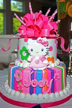 i would this hello kitty birthday cake for gabyu0027s bday