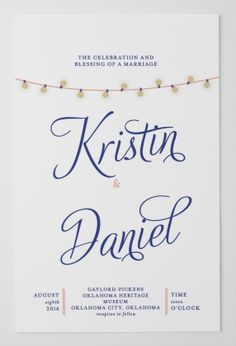 Flourish Title Signature White Textured Wedding Invitations in