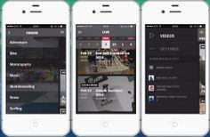 Capacité à appeler à l'action | La navigation est simplifiée grâce au menu latéral qui regroupe les grands thèmes (live, shows, vidéos) et qui incite à télécharger les autres applications de la marque. Red Bull met en avant via un menu défilant les événements  à venir, l'utilisateur, en cliquant, peut avoir plus d'informations et même enregistrer l'événement dans son calendrier. L'application centre son design sur le contenu vidéo permettant d'immerger l'utilisateur dans l'expérience.