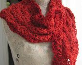 Scarf for women REDHandknittedflowersSoft and by AnnaLela on Etsy Vintage Friends, Fall Collections, Sell On Etsy, Knitting Yarn, Womens Scarves, Vintage Items, Red, Gifts, Gift Ideas