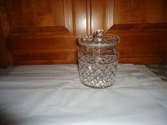 """Vintage 1970's Waterford Crystal Glandore Pattern Biscuit Barrel.  7.50"""" Height #WaterfordCrystal"""